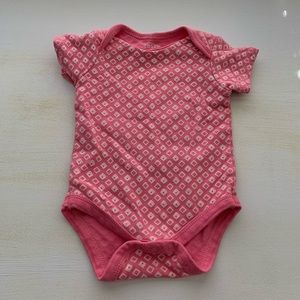 Infant Girl Diamond Printed Onsie